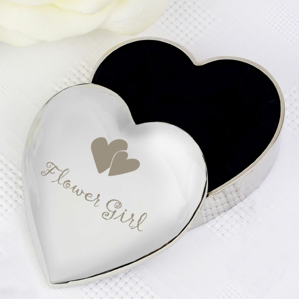 Flower Girl Heart Trinket Box - Thank you gift for Flower Girl